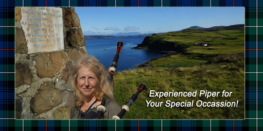 Orlando Bagpiper for Hire Pat is available for your special occassion