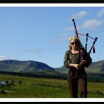 Pat's music filled the Scottish Mountains