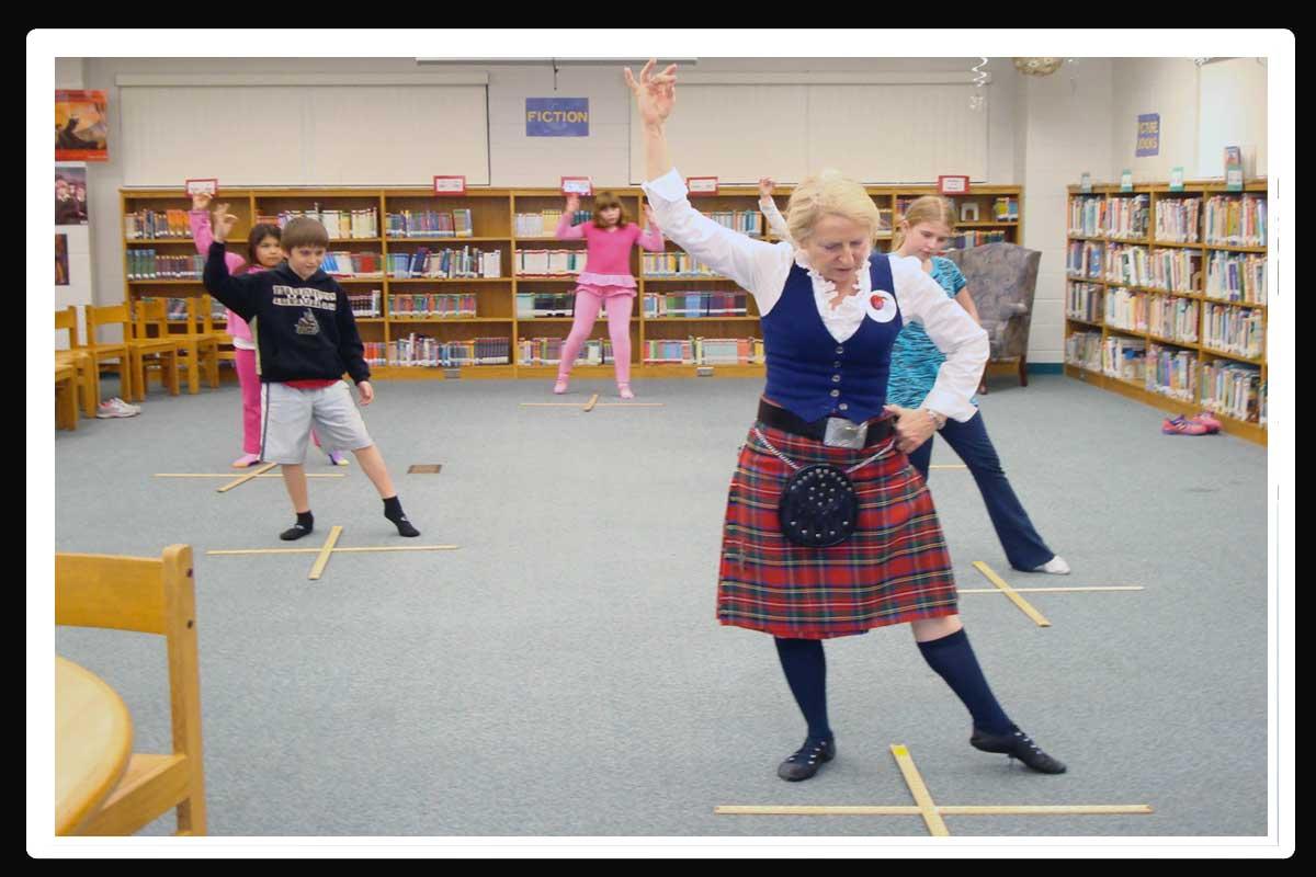Pat Teaching The Sword Dance
