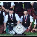 Award winning Rosie O'Gradys' Highlanders Bagpipe Band